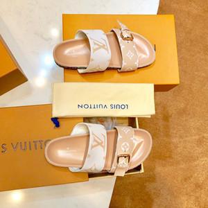 Moda lüks tasarımcı kadın çevirme süperstar Baskı kadınlar için gerçek deri düz sandalet Klasik rahat ayakkabılar Kum sürükle En İyi kalite