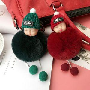 موك: 10PCS الفتيات الأزياء والمجوهرات الحلي النوم طفل رقيق لطيف قلادة مفتاح الدائري للنساء حقائب سيارة الديكور