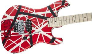 Обновление Gang Edward Van Halen 5150 White Stripe Red Электрогитара Rose тремоло, гайки, Maple Neck грифа
