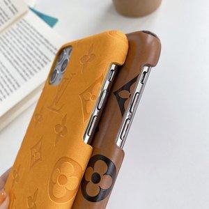 cassa del telefono in pelle di design di business di lusso per iPhone Pro 11 7 8 più X XR XS MAX Galaxy S20 S10 S9 Nota 10 9 8 copertura donna Man