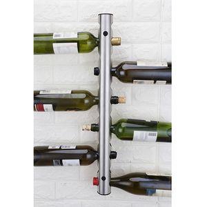 Yaratıcı Şarap tutucular 12 Delik Ev Bar Duvar Üzüm Şarap Şişe Tutucu Ekran Standı Raf Süspansiyon Depolama Organizatör Tercih Rack