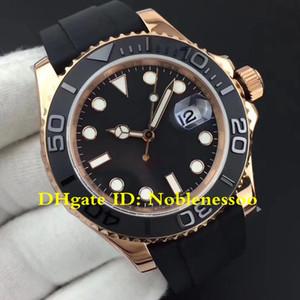 Homens Auto 40mm BP Fábrica Swiss Cal.3135 Automático 316L Aço Black Dial Everose Gold Oysterflex pulseira relógio 116655 126655 mens relógios