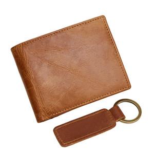소 가죽 지갑 하이 엔드 남성 지갑 레트로 스타일의 짧은 지갑 남성 카드 홀더 표준 지갑