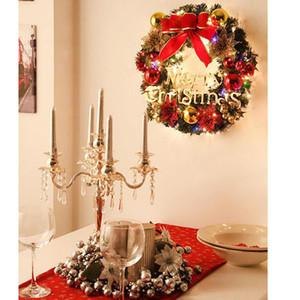Noel Dekorasyon Süsleme Çelenk Simülasyon Garland Kapı Asma Pencere Dikmeler Arkaplan Noel ağacı Aksesuarlar 5 stil HH9-A2551