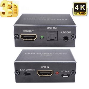 200set Mini AY78 HDMI Audio Extractor zu HDMI / Optical Toslink SPDIF / 3,5-mm-Konverter-Teiler-Adapter