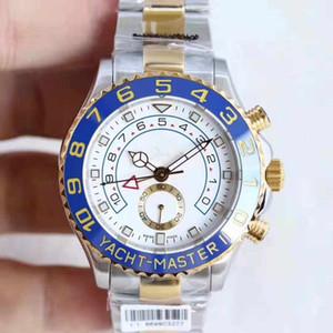Relógio mecânico automático dos homens, iate M116689-0002, 44 milímetros concha branca nova agulha 316 fina de aço, desporto iates watch.Famous Femininos