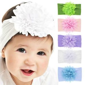 HOT NEW NEW Новорожденный ребёнки нейлон смазливая диапазона волос младенца Цветочные шифон цветок Stretch головная повязка Дети \ 's Headdress