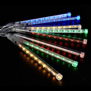 8 Rohre / Set Schneefall LED Streifen Licht Weihnachten Licht Meteorschauer Regenschlauch Lichterkette AC 100-240 V für Xmas Party Hochzeit 78