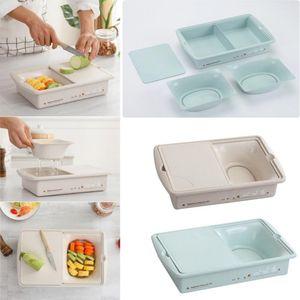 Multifunción cocina cortando bloques sumideros de drenaje Drain cesta doble corte de verduras Junta Carne de cocina Accesorios de cortar