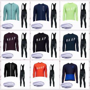 MAAP team Велоспорт зимний термальный флис Джерси нагрудник брюки наборы 2020 Мужская одежда для верховой езды на горном велосипеде износостойкий костюм C624-27