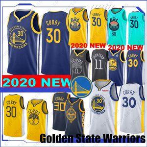 Novo estilo 19 20 Stephen Curry 30 Basketball Jerseys Draymond 23 verde Klay Thompson 11 Andre 9 lguodala Top Quality costurado Jerseys