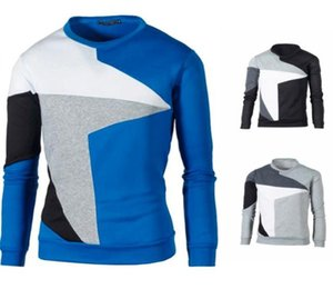 Stars Print Mens Designer Sweatshirts Fashion Loose Panelled Mens Sweatshirts Casual Males Clothing Half of the