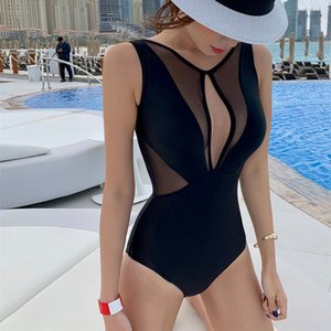 New Japan and South Korea ins vacation beach beautiful girl fashion swimsuit sexy non-steel plate bikini one-piece lace swimsuit