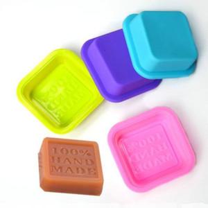 Molde de jabón hecho a mano de silicona molde de jabón artesanal cuadrado de silicona moldes de jabón hechos a mano Color mezclado enviar