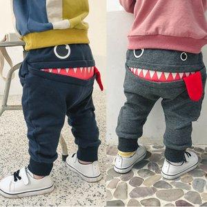 Pantaloni bambini bambino bambino delle ragazze dei ragazzi svegli di grande bocca Pantaloni mostro Costumi lungo Cototn infantile Cartoon Panty Abbigliamento