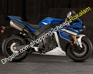 Yamaha YZF1000 YZF 1000, R1 Fairing 2012 2013 2014 YZFR1 YZFR1 12 13 14 Kaporta Kiti Motosiklet Mavi Beyaz (enjeksiyon kalıplama)