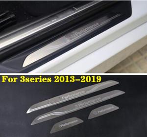 4 قطع الفولاذ المقاوم للصدأ باب السيارة سيلز جرجر لوحة واقية ، ملصق حامي ، دواسة الزخرفية تقليم لسلسلة BMW 2 ، 3 سلسلة ، X1 ، X3 ، X4 ، X5 ، X6