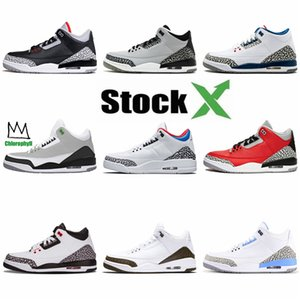 2020 New Release 3 3S White Denim Jeans Retro Basketball Shoes Mens Formadores Sports Ls White Denim Jean Sneakers Zapatos # 369
