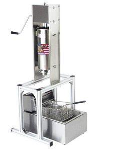 식품 가공 상업용 스페인어 5L churros 만드는 기계 6L 전기 리터 깊은 프라이어