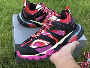 Triple S 3,0 sneakers Preto Rosa Vermelho Dorky calçados pai Sapatos Mulheres Luxo Runner Knit Shoe Designer Original instrutor Runner melhor qualidade