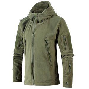 Termal Yürüyüş Hoodie Ceket rüzgar geçirmez Erkekler Sonbahar Kış Ceket Yumuşak Kabuk Fleece antistatik sweatproof çabuk kuruyan