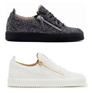 Fashion Designer Marca Sneaker Homem Mulher Casual Arena genuíno sapatos Zipper Raça Runner sapatos ao ar livre formadores com grande tamanho 35-47