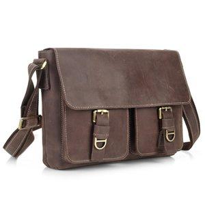 Новый ретро верхний слой кожи мужская сумка кожа мужская сумка мужская сумка Crossbody поперечное сечение crazy horse кожи японский и корейский стиль