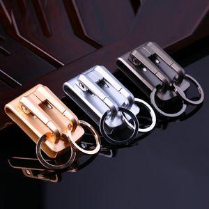 Luxo de alta qualidade Correia Key Clip Holder Hanging cintura Cadeia Belt-chaves porta-chaves do carro Cadeia Buckle Dia dos Pais O melhor presente