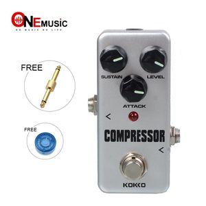KOKKO FCP2 Mini Compressor Pedal Pedal de efecto de guitarra portátil