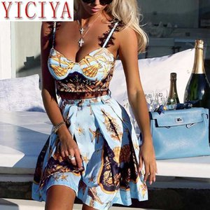 2020 Summer Short Sets For Women Sexy Club Outfits Co-ord Crop Top Skirts Suit Beach Party Lace 2 Piece Set Festival Clothing