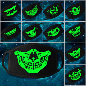 Multi Use Luminous Accessories Mask For Adult Halloween Skull Masks Skeleton PM2. 5 Dustproof Skull Half Face Mask