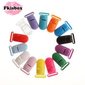 LY191202 Yapımı Fkisbox 50pc Plastik Bebek emziği Klipler Bebekler İçin Yatıştırıcı Meme Tutucu Aksesuarları Yenidoğan Bebek Teething diş kaşıyıcınız Takı