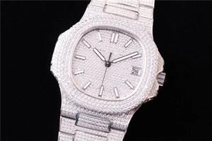 5719 montre DE luxe orologio tempestato di diamanti Cal.324 SC orologi automatici a movimento meccanico con fibbia pieghevole orologi di design