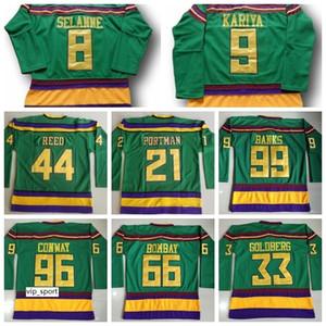 마이티 오리 영화 99 Adam Banks Jersey Hockey 96 Charlie Conway 21 Dean Portman 44 Fulton Reed 33 Greg Goldberg 66 Gordon Bombay
