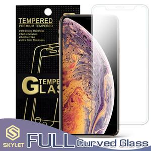 COMPLET courbe Protecteur d'écran pour iPhone XS MAX Clear Case amicale en verre trempé pour iPhone XR XS 7/8 Film de protection plus 0.33mm avec la boîte