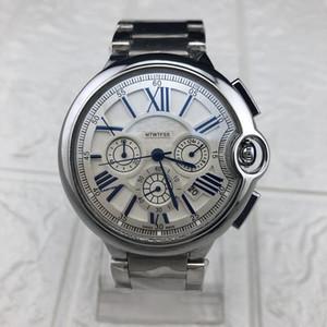 Luxus Drei Zeitzonen wasserdicht Herrenuhr Casual Uhren Master-Level-Design Top-Qualität Herren-Militäruhren Business-Sportuhr