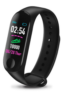 M3 Smart Band Blood Pressure Fitness Tracker Pedometer Heart Rate Monitor Smart Bracelet Wristband For IOS Android