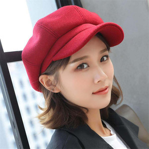 Ins style nordique dames chapeau citrouille chapeau octogonal de mode britannique beret version coréenne du chapeau de peintre japonais