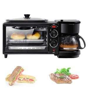 Multifunktions Vollautomatische Haushalt Kaffeemaschine elektrische Brot Frühstück Maschine 3 in 1 maker backen Ofen Spiegelei