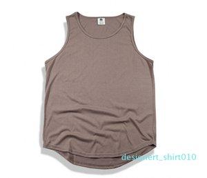 Mens Tops Spring Summer New Slip Cotton High Street Hole Men Vest Male Hip-Hop Tank Tops 10 Colors d10