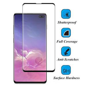 Schermo curvo film in 3D di caso friendly vetro temperato Protector per Samsung Galaxy S10 PLUS S10e note10 PLUS S8 S9 Inoltre NOTE8 note9
