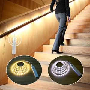 1M / 2M / 3M DC 5V датчик движения LED Night Light Кухня Освещение Тумба Шкаф кровать Room PIR датчик детектор свет прокладка лампа