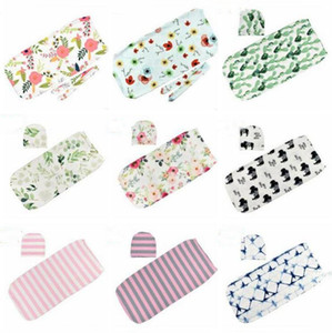 Baby Sleeping Bags Newborn Swaddle Infant Milestone Blanket Headband Toddle Soft Cotton Cocoon Sleep Sack Printed Floral Sleeping Bags LT76
