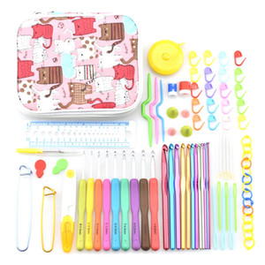 Crochet Hooks Knit Colorful Crochet Needle Set Sweater Knitting Needls Set Diy Clothes Scarf With Bag