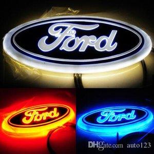 """LED 자동차 테일 로고 레드 블루 화이트 라이트 자동 배지 후면 엠블럼 램프를 들어 포드 포커스 몬데오 구가 9 """"14.5X5.6cm"""