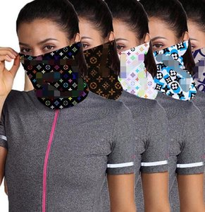 Designer Outdoor Bicycle Cycling Face Masks Bandanas Fashion Scarf Headband Neckerchief Mutilfunction Cap Sports Head Scarves Half Face Mask