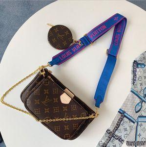 Luxury 3 pieces set favorite multi pochette accessories handbag purse genuine leather L flower shoulder crossbody bag ladies purses