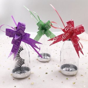 Bottle lashes box for 3D mink lashes clear eyelashes package cute wholesale dramatic lash box with decorated flowers