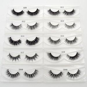 A11 Eyelashes 3D Mink Lashes Luxury Made Mink Eyelashes متوسطة الحجم القسوة ، المنك الرموش الصناعية الرموش العليا