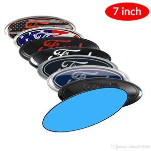 "2ST 7"" Oval Front Rear Grille Badge Emblem Typschild Decorator Aufkleber für Ford F150 F250 2006-2014"